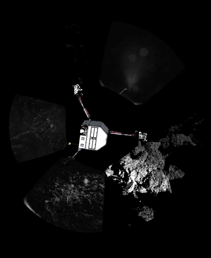 Philae Lander Panoramic - Copyright ESA/Rosetta