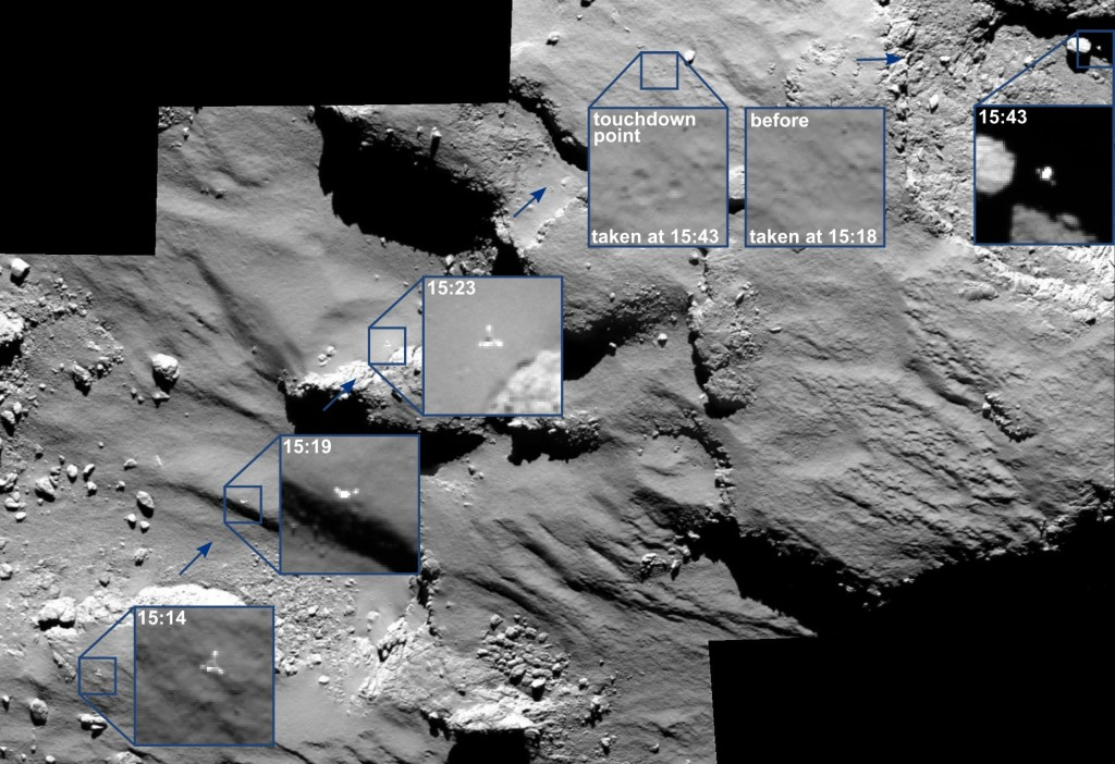 Philae lander imaged by OSIRIS camera / Copyright ESA/Rosetta